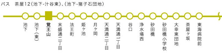バス 茶屋12(池下-汁谷東)、(池下-猪子石団地)